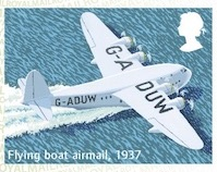 FLyingboat mail by air faststamp.