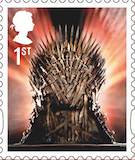 Game of Thrones Iron Throne 1st class stamp 2018.