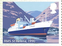 Mail by Sea Post and Go stamp detail RMS St Helena 2018.