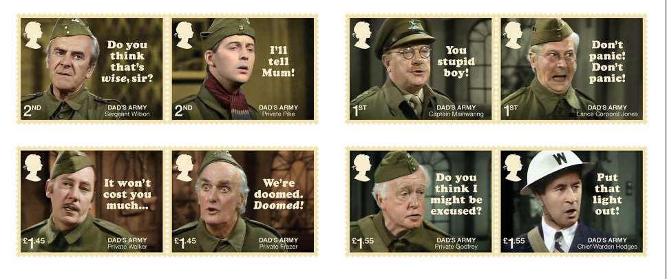 Dad's Army TV Series - British stamp issue 26 June 2018 ...