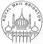 postmark showing Brighton's Royal Pavilion.