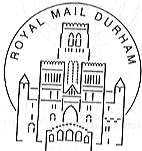 Postmark showing Exeter Cathedral.