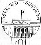 Permanent Postmark showing Buckingham Palace.