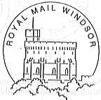 Permanent Postmark showing Windsor Castle.