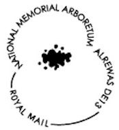 Postmark showing a poppy.